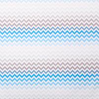 """Бумага упаковочная глянцевая """"Голубые зигзаги"""", 70 х 100 см"""