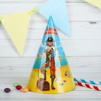 """Бумажные колпаки """"С днём рождения! Пират"""""""