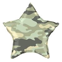 """Шар фольгированный 18"""" «Камуфляж», звезда"""