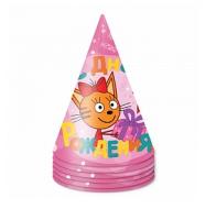 """Бумажный колпак """"Три Кота, Розовый"""""""