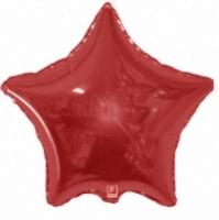 """Фольгированный шар Звезда Металл Красный 18"""""""