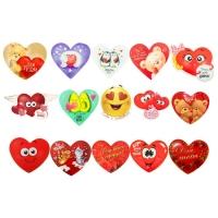 """Одинарная валентинка """"От всего сердца"""", 7х6 см"""