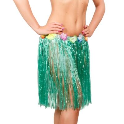 Гавайская юбка, цвет зелёный
