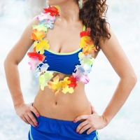 """Карнавальное ожерелье """"Гавайское"""", многоцветное"""