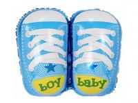 """Фольгированный шар """"Ботиночки для мальчика"""", Голубой, 29""""/74 см"""