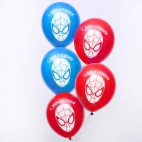 """Воздушные шары «С Днём Рождения», Человек-паук, 1 шт., 12"""""""