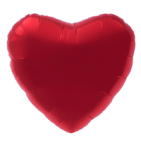 """Шар фольгированный 18"""", сердце, цвет красный"""