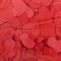 Конфетти «Сердечки», 20 г, цвет красный