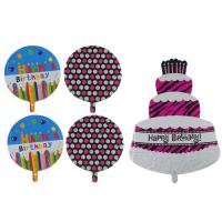 """Букет из шаров """"С днем рождения"""", фольга, набор из 5 шт."""