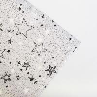 Бумага упаковочная крафтовая «Звездочки», 70 × 100 см