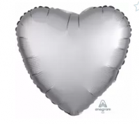 """Фольгированный  шар""""Сердце"""" 18"""" Сатин Azure"""