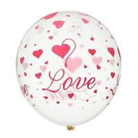 """Воздушный шар """"I love you"""" 30 см"""
