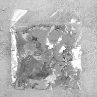 Конфетти «Звёзды», 20 грамм, цвет серебряный