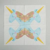 Салфетки бумажные «Единорожка», 33 х 33 см, набор 20 шт.