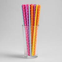 Трубочки для коктейля «Горох», набор 25 шт., цвета МИКС
