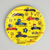 Тарелка бумажная «Машинки», 18 см