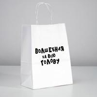 Пакет подарочный с приколами «Волшебная на всю голову», 24 х 14 х 30 см