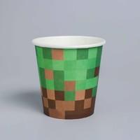 Стакан бумажный «Пиксели», набор 6 шт., 250 мл