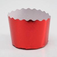 Форма для выпечки маффинов и кексов «Цветная»,красный, 6 х 4,5 см
