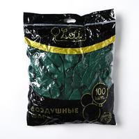 """Шар латексный 12"""", пастель, набор 100 шт., цвет темно-зелёный"""