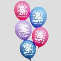 "Воздушные шары ""Happy birthday"", Холодное сердце 12 дюйм"