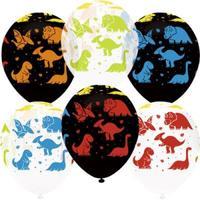 """Шар латексный 12"""" «Яркие динозаврики», пастель, 5-сторонний, флуоресцентный"""