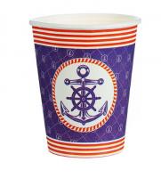 """Бумажный стакан """"Морской"""", Якорь, 250 мл"""
