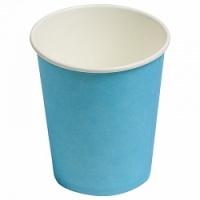 Бумажные стаканчики однотонные, голубой, 180 мл, 6шт.