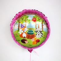 """Фольгированный шар """"С днём рождения"""", лесные звери 18""""/45см"""