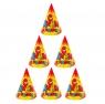 """Набор бумажных колпаков """"С Днём рождения"""", (набор 6 шт), 16 см"""