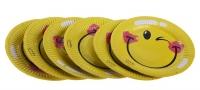 """Набор """"Смайл"""". Тарелки (6шт) + салфетки (20 шт) + колпачки (6 шт) + скатерть"""