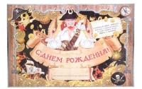 """Пиратский плакат """"С Днем Рождения"""", 50х70"""