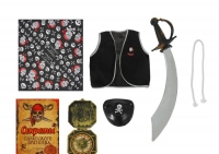 """Набор пирата """"Пират всех морей"""", 5 предметов:бандана, жилетка, наглазник, сабля, компас"""