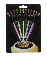 """Набор свечей для торта """"Цветное пламя"""""""