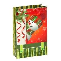 """Пакет подарочный """"Озорной снеговик"""""""
