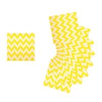 """Салфетки бумажные (набор 20 шт) """"Ломаная лини"""" 33*33 см, цвет бело-желтый"""