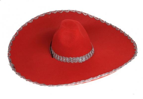 """Шляпа """"Мексиканка"""" красная"""