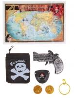 """Набор пирата """"В поисках сокровищ"""", 7 предметов: карта, мешок, пистолет, наглазник, клипса, 2 монеты"""