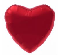 """Фольгированный шар """"Сердце"""", красное 18""""/45см"""