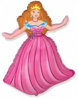 Фольгированный шар Принцесса, Розовый (32»/81 см)