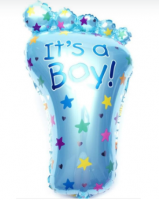Шар (30''/76 см) Фигура, Ножка малыша, Голубой, 1 шт.