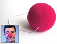 Нос клоуна на резинке, цвет микс