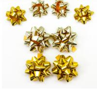 Бант Звезда, Золотой микс, Голография, 7 см, 1шт