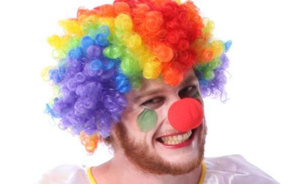 Нос клоуна красный (с прорезью)