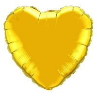 """Шар фольгированный """"Сердце"""" 18"""" золотое"""