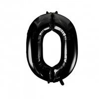 """Фольгированный шар цифра (40""""/102 см) Черный"""