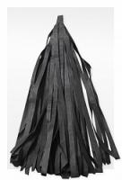 Гирлянда Тассел, Черная 2 м, 10 листов