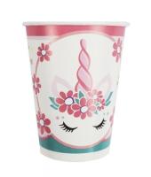 Бумажные стаканчики Единорог Pink&Tiffany, 6 шт, 200 мл