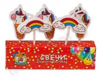 """Свечи для торта """"Единороги"""" 5 шт"""