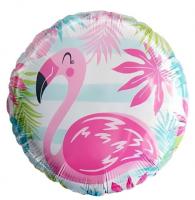 """Фольгированный шар Фламинго, круг 18"""""""
